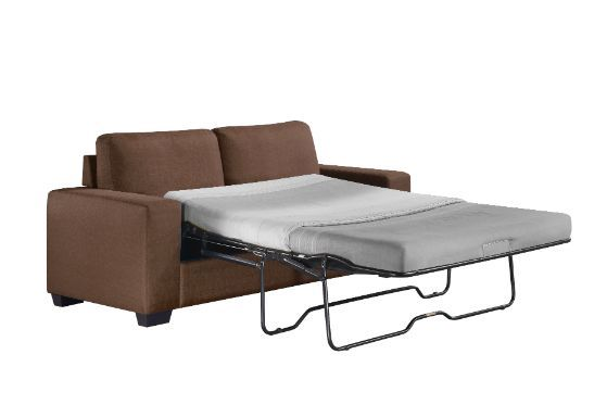 Acme 57210 Tibbee brown fabric full sleeper sofa with squared arms