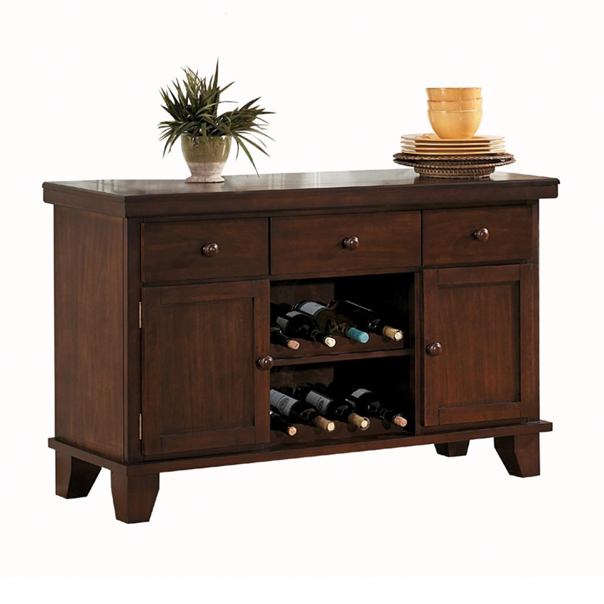 Homelegance 586-40 Ameillia dark oak finish wood side board server buffet cabinet