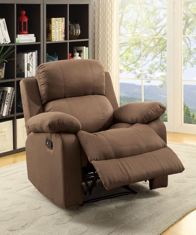 Acme 59478 Parklon chocolate microfiber fabric recliner chair