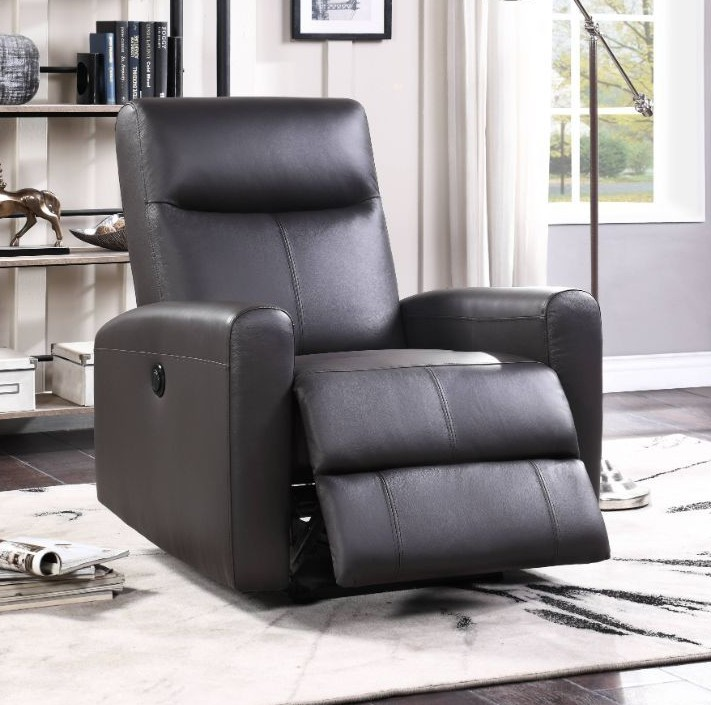 Acme 59773 Blane brown top grain leather power motion recliner chair modern style