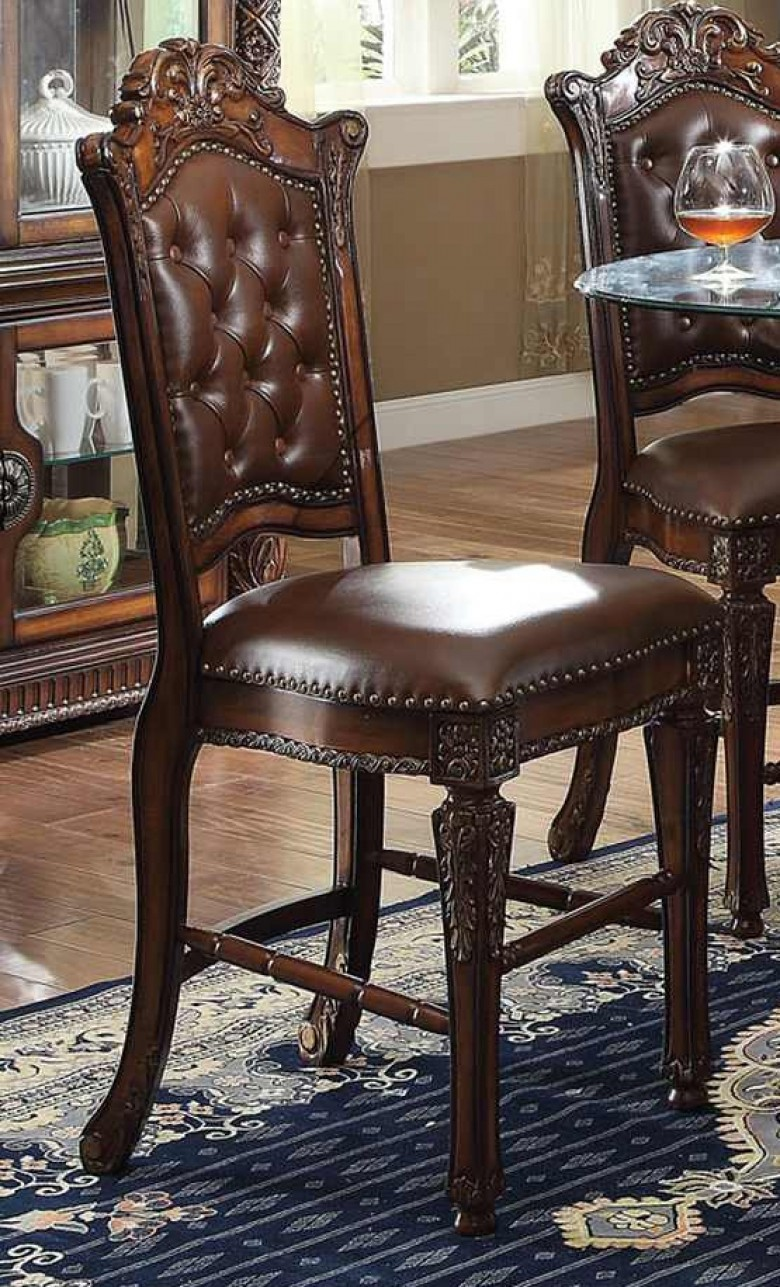 Acme 62034 Set of 2 vendome ii cherry finish wood counter height dining bar chairs
