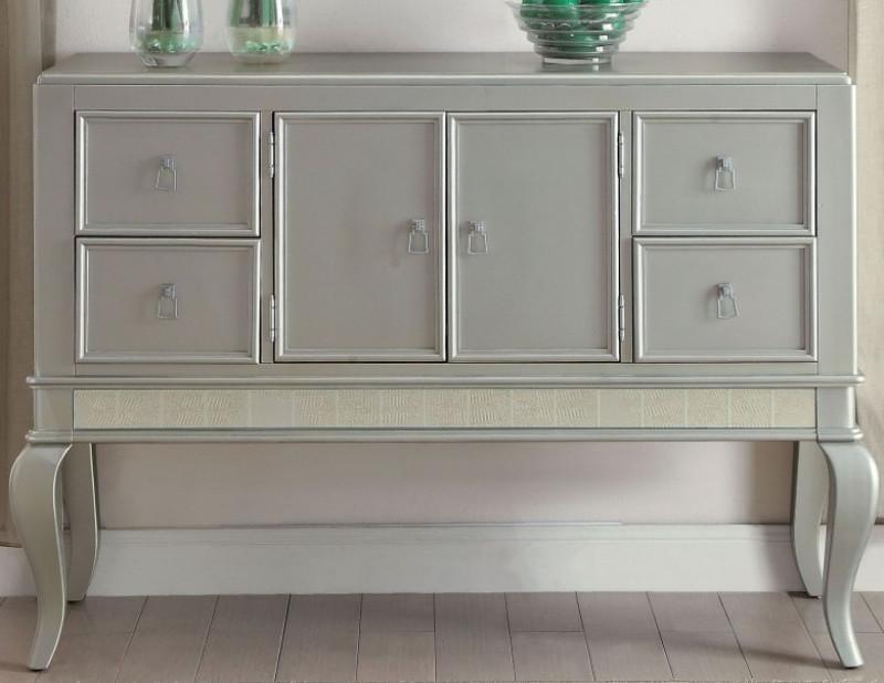 Acme 62084 Francesca champagne finish wood sideboard server buffet cabinet