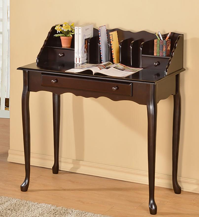 Asia Direct 6535-ESP Espresso finish wood multi purpose letter secretary desk table with drawer