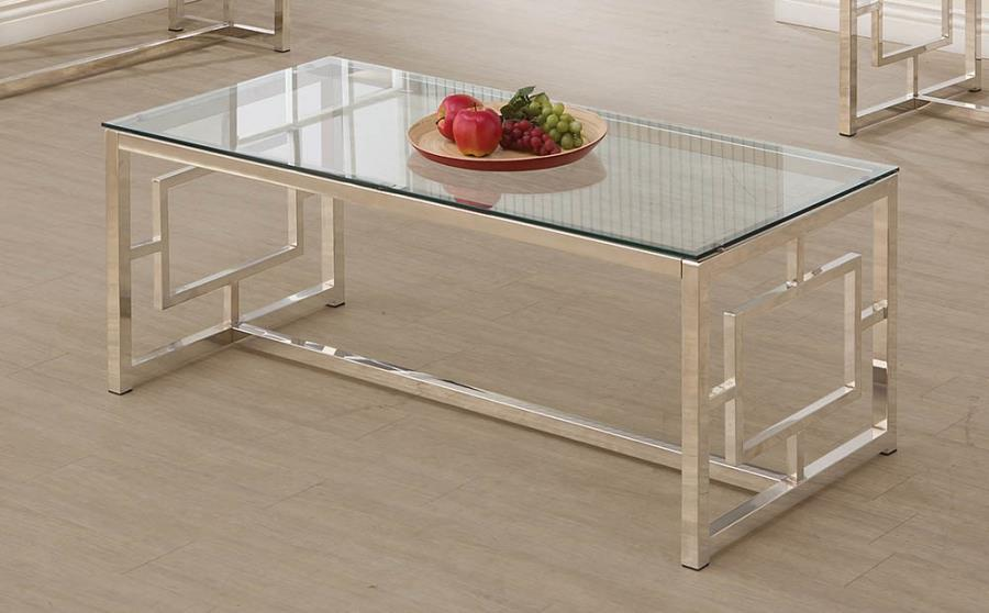 703738 WIlla arlo interiors danberry chrome finish metal and glass coffee table
