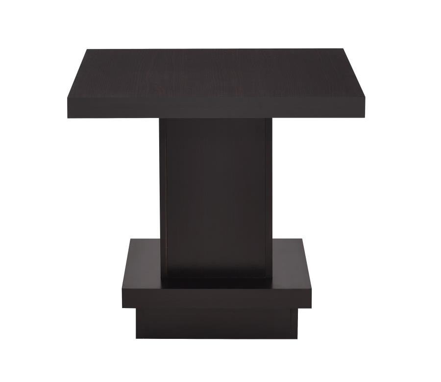 Wildon collection espresso wood finish modern end table