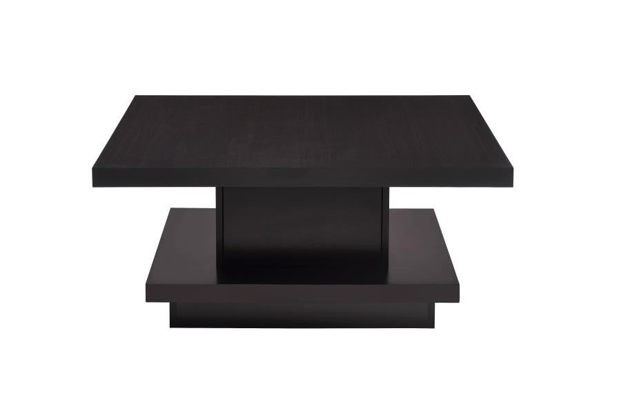 Wildon collection espresso wood finish modern coffee table