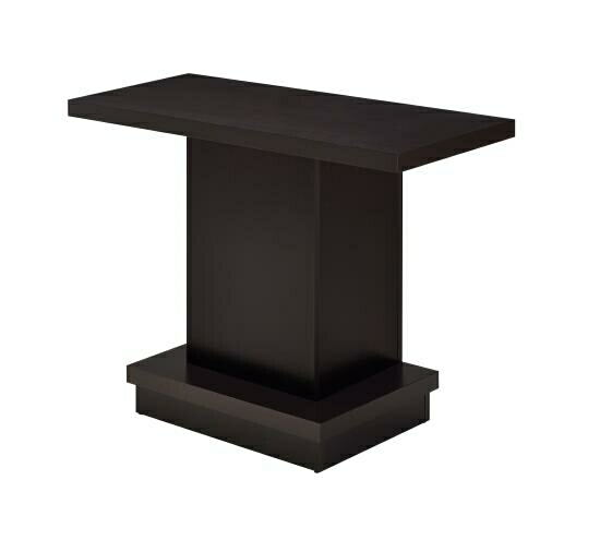 Wildon collection espresso wood finish modern sofa table