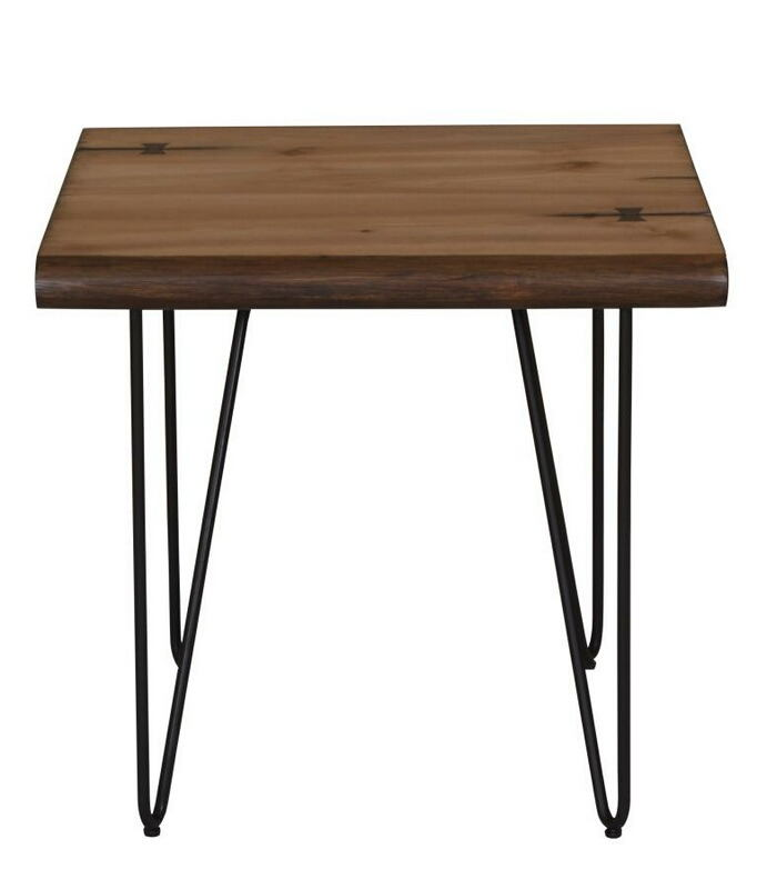 707757 Bronx ivy penitas mid century modern style natural honey finish wood end table