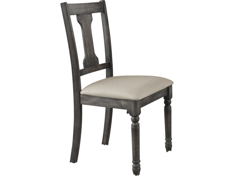 Acme 71437 Set of 2 wallace weathered washed gray finish wood dining chairs