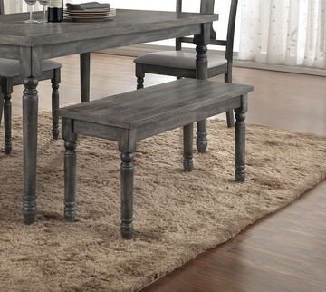 Wallace collection weathered washed blue finish wood dining / bedroom bench