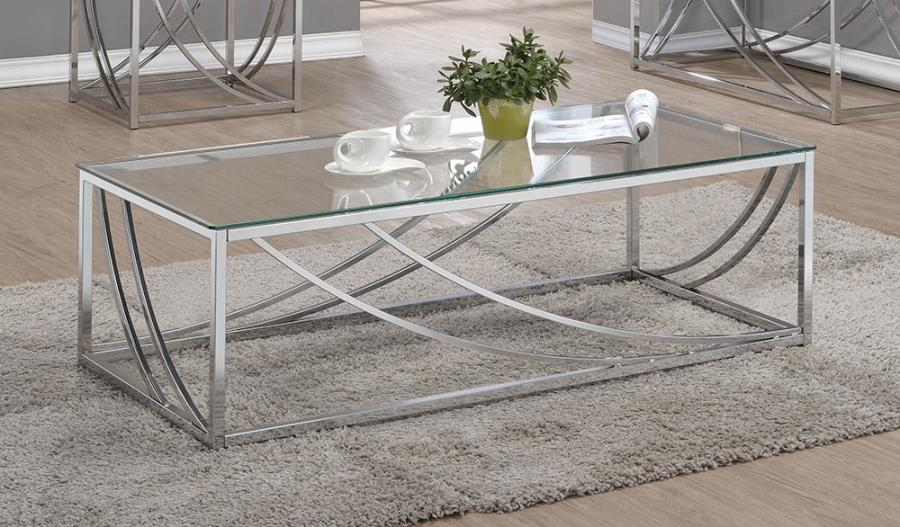 720498 WIlla arlo interiors mckenzie chrome finish metal and glass coffee table