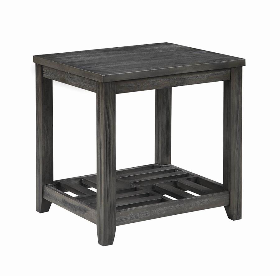 722287 Wildon darby home co grey finish wood end table