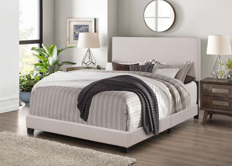 7552 Home source regents khaki linen like fabric queen bed set