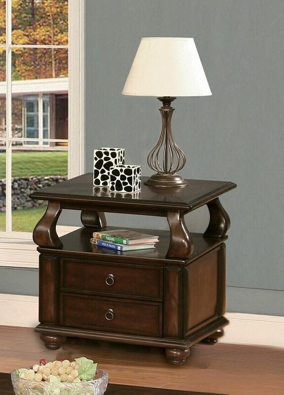 Acme 80012 Canora grey chulmliegh amado walnut finish wood chair side end table