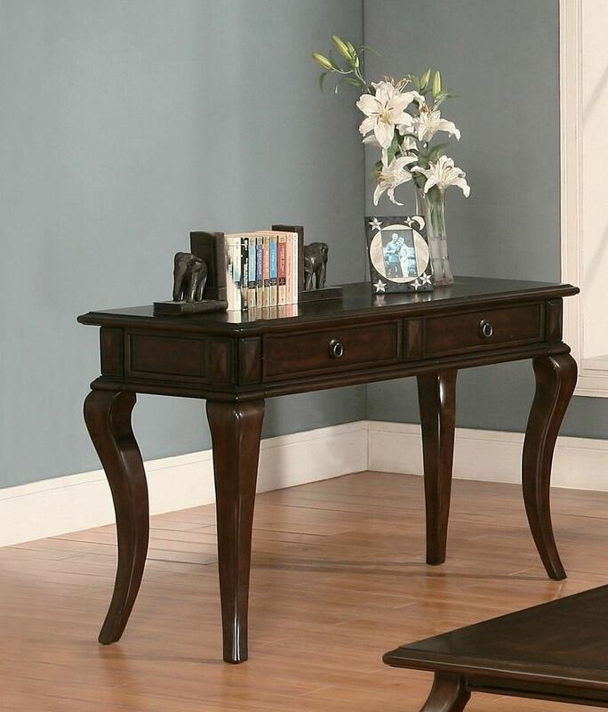Acme 80014 Canora grey chulmleigh amado walnut finish wood sofa entry console table