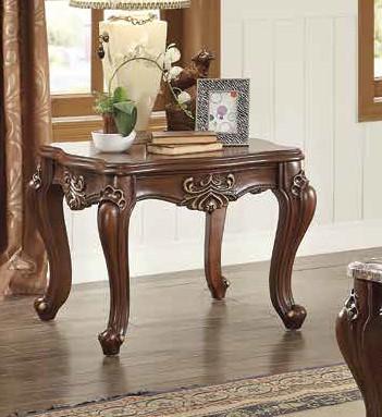 Acme 81052 Astorai grand mc kim shalisa walnut finish wood marble top chair side end table