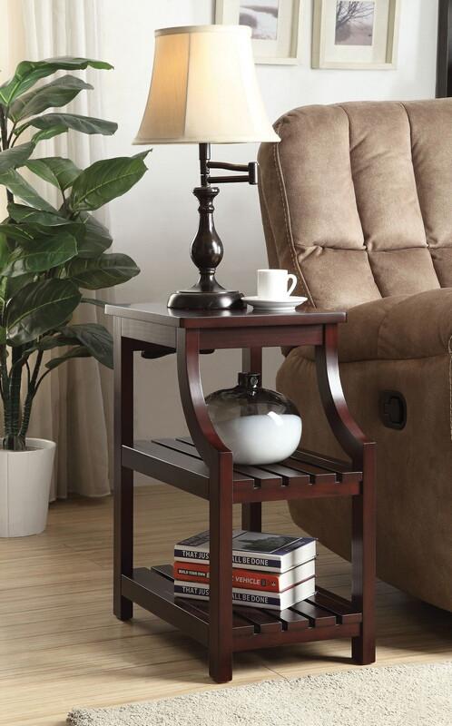 Acme 81955 Wasaki espresso finish wood chair side end table magazine rack