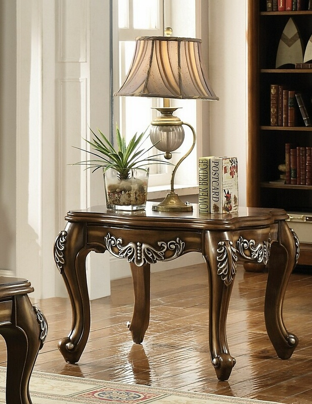Acme 82117 Astoria grand simpson latisha antique oak finish wood chair side end table