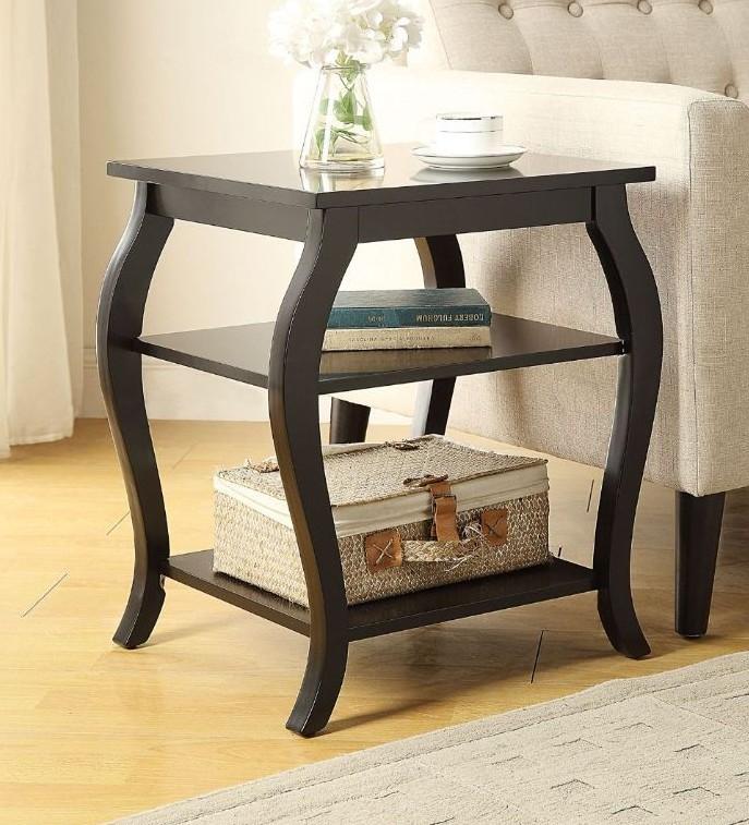 Acme 82826 Ivy bronx durlston becci black finish wood side end table
