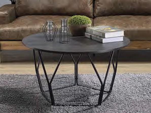 Acme 83950 Ebern designs ebru sytira espresso top black finish frame round coffee table