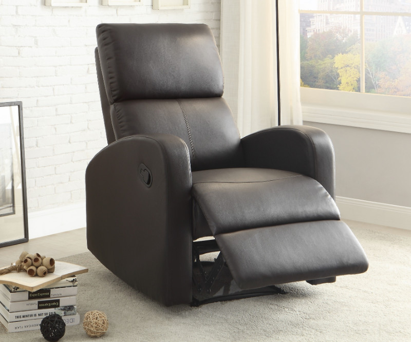 Homelegance HE-8404DB Mendon dark brown bi-cast vinyl recliner chair