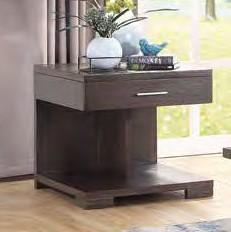 Acme 84852 Wrought studio marple niamey cherry finish wood modern style end table