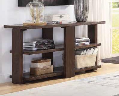 Acme 84853 Wrought studio marple niamey cherry finish wood modern style sofa hall console entry table