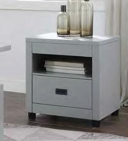 Acme 87107 Brayden studio haleyville eleanor dove gray finish wood modern end table