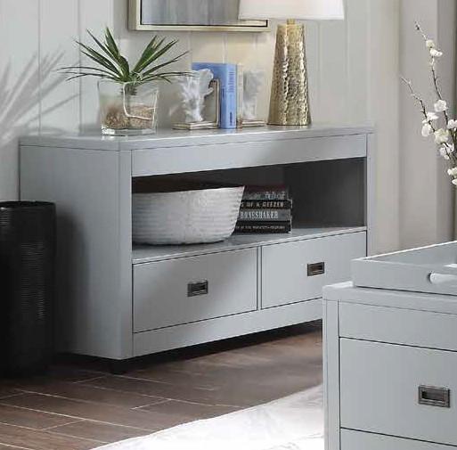 Acme 87108 Brayden studio haleyville eleanor dove gray finish wood modern sofa entry console table