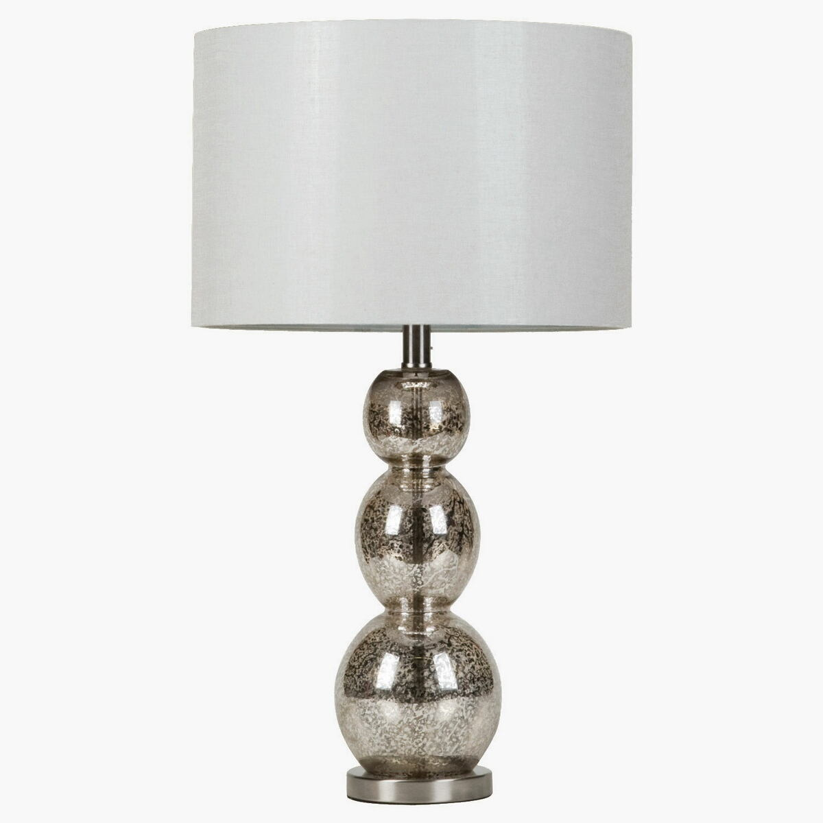 Contemporary style mottled tortoiseshell finish table lamp with unique sphere shape base