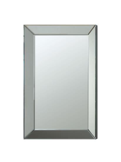 Beveled framed edge rectangular frame design frameless decorative wall mirror