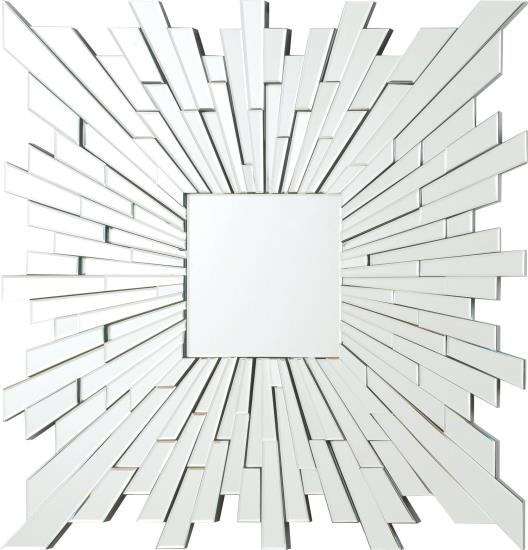 Squared star sun multi piece frameless decorative wall mirror