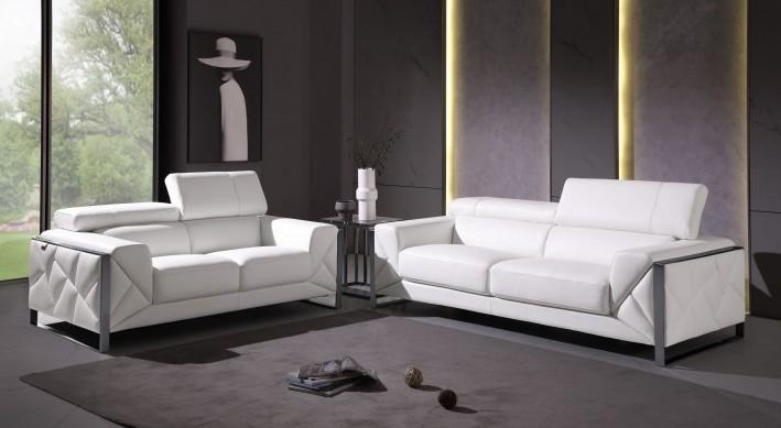 903WH-2PC 2 pc Orren ellis luigi white italian leather sofa and love seat set