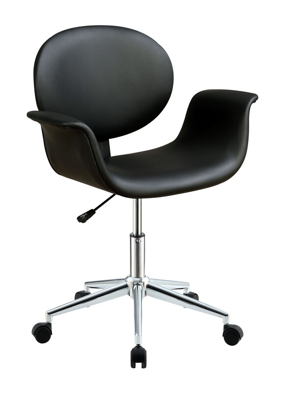 Acme 92420 Camila black vinyl office chair with lift and casters