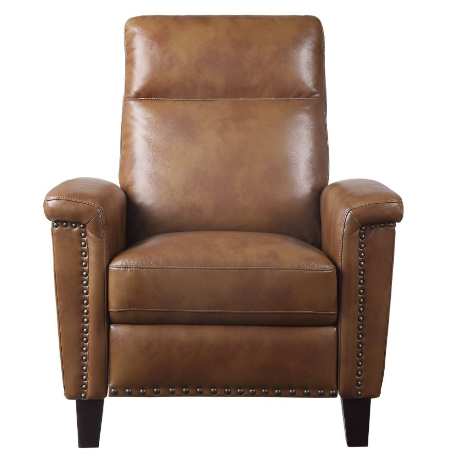 Homelegance 9400BRW-1 Weisrer brown breathable faux leather push back recliner chair