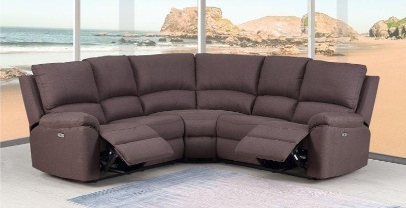 GU-9241BR-3PC 3 pc Latitude run kalea brown chenille fabric reclining sectional sofa set