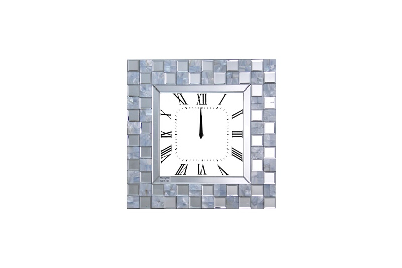 Acme 97398 Nasa mirrored squares wall clock