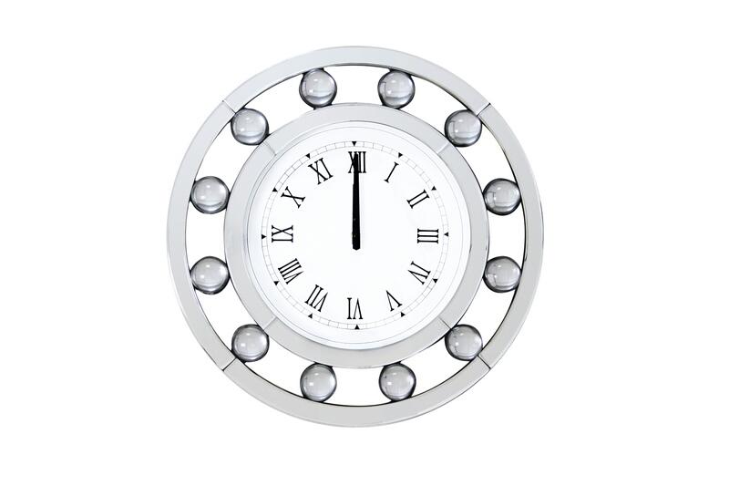 Acme 97405 Boffa mirrored front and circular shapes wall clock