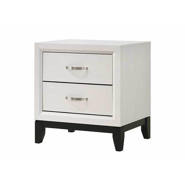 B4610-2 A & J homes studio akerson chalk finish wood bed side night stand