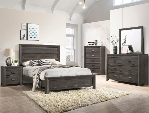 Crown Mark B6700-Q 5 pc london espresso finish wood queen bedroom set
