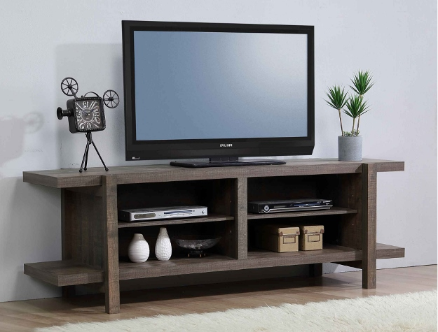 B8280-7 Darby home co tacoma grey finish wood tv stand console