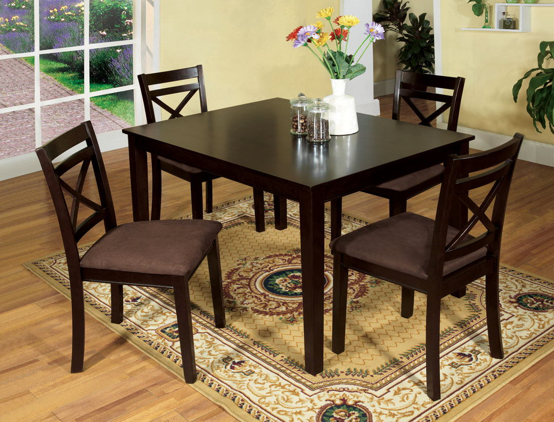 Furniture of america CM3400T-5PK 5 pc. weston i contemporary style espresso wood finish dining table set