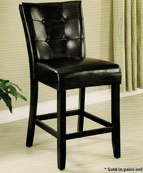 Set of 2 marion iii counter height chair leatherette back and seat with a espresso wood finish frame