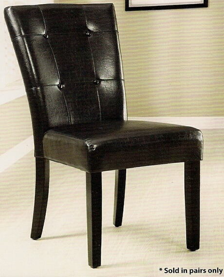 Set of 2 marion i side chair leatherette back and seat with a espresso wood finish frame