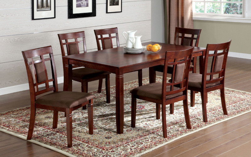 CM3930T-7PK 7 pc montclair i dark cherry wood finish dining table set