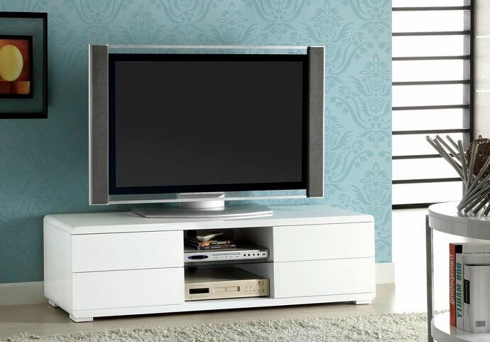 CM5530WH-TV Cerro modern style white high gloss tv stand