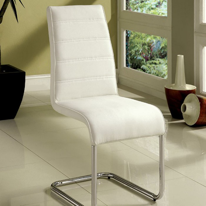 CM8371WH-SC-2PK Set of 2 Orren ellis monaco mauna modern white faux leather dining chairs