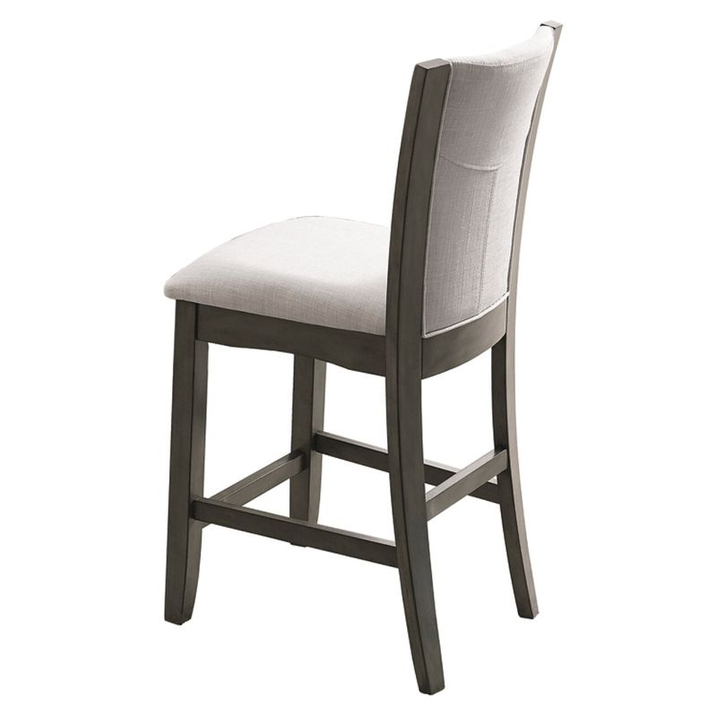 1710GY-S-24 Set of 2 Camelia grey finish wood counter height dining chairs