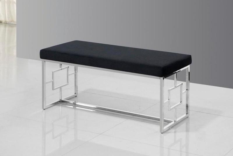 Best Master E01 Stainless steel finish black velvet bedroom entry bench