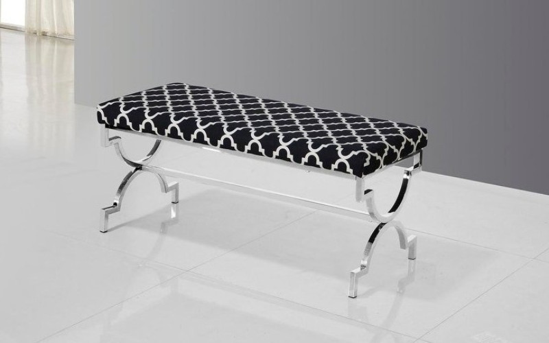 Best Master E06 Stainless steel finish safavieh black bedroom entry bench